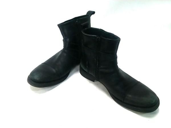 STEFANOROSSI(ステファノロッシ) ショートブーツ メンズ 黒 レザー