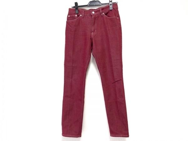 ビースリー ジーンズ サイズ36 S レディース レッド jeans/ストレッチ素材