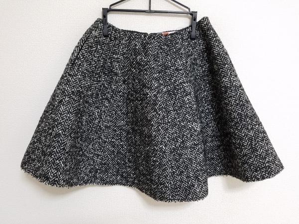 MSGM(エムエスジィエム) スカート サイズ38 M レディース美品  黒×白 ツイード