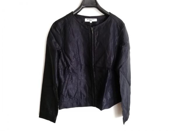 ナチュラルビューティー ベーシック ジャケット サイズL レディース美品  黒