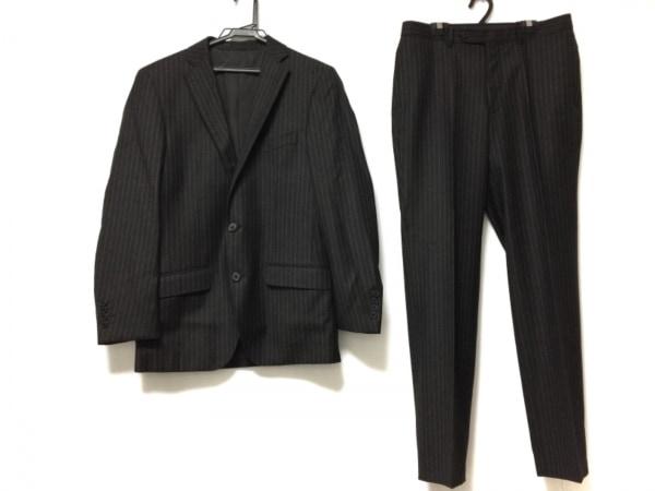 VISARUNO(ビサルノ) シングルスーツ メンズ ダークブラウン×アイボリー ストライプ