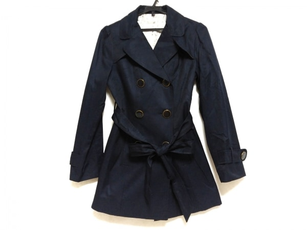 Emilyan(エミリアン) コート サイズ9AR S レディース美品  ネイビー 春物