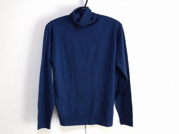 ジョンスメドレー 長袖セーター サイズM  M メンズ新品同様  ネイビー タートルネック