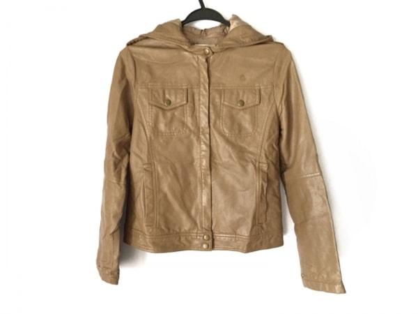 simplicite(シンプリシティエ) ライダースジャケット レディース ライトブラウン