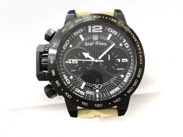エンジェルクローバー 腕時計 TC50 メンズ ラバーベルト/クロノグラフ 黒
