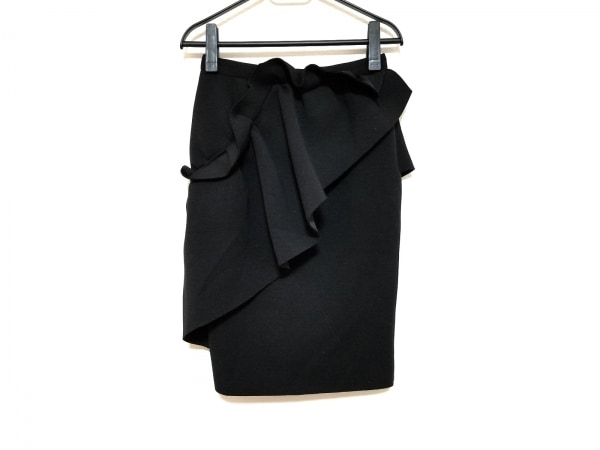 AKIRA NAKA(アキラナカ) スカート サイズ36 S レディース美品  黒 フリル