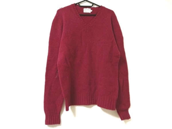 Inverallan(インバーアラン) 長袖セーター サイズ38 M メンズ美品  レッド