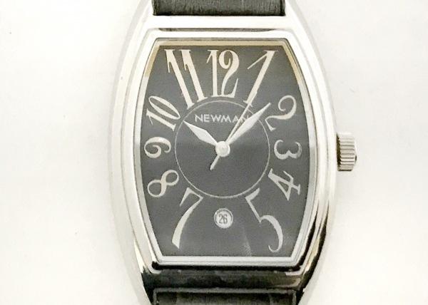 NEWMAN(ニューマン) 腕時計美品  - メンズ 革ベルト 黒