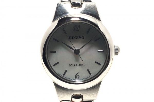 REGUNO(レグノ) 腕時計 B035-S028345 レディース シェル文字盤 ライトブルー×ピンク