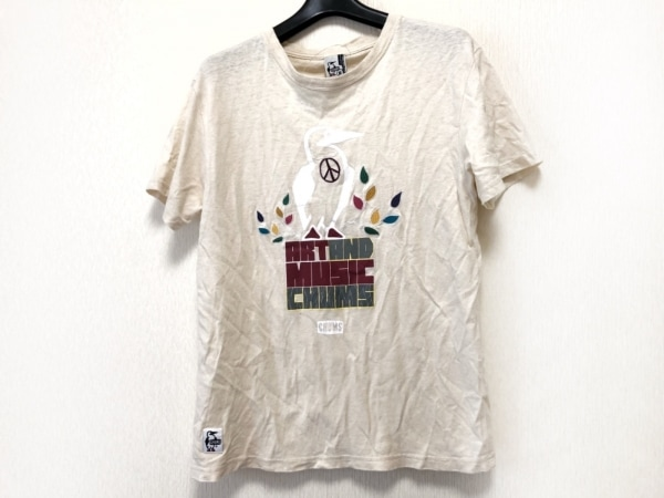 CHUMS(チャムス) 半袖Tシャツ サイズS レディース アイボリー×マルチ