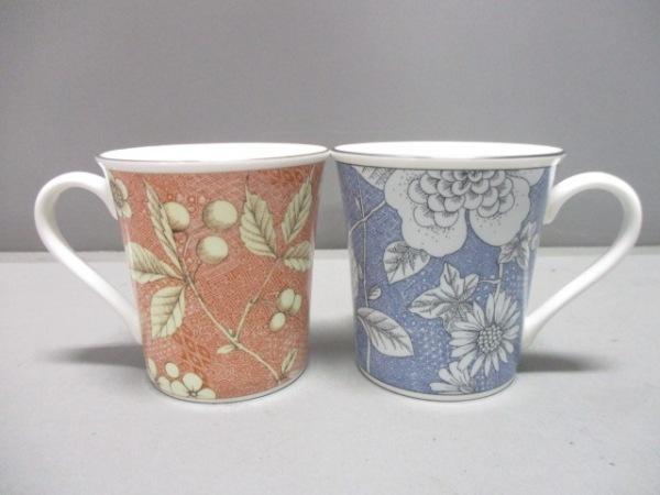 ウェッジウッド マグカップ新品同様  frances blue レッド×ブルー×マルチ 陶器