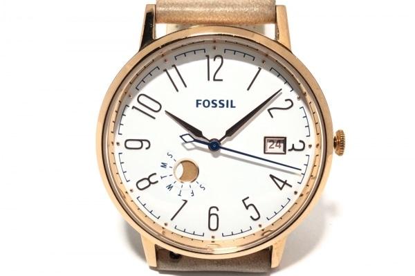 FOSSIL(フォッシル) 腕時計 ES3991 レディース 革ベルト 白