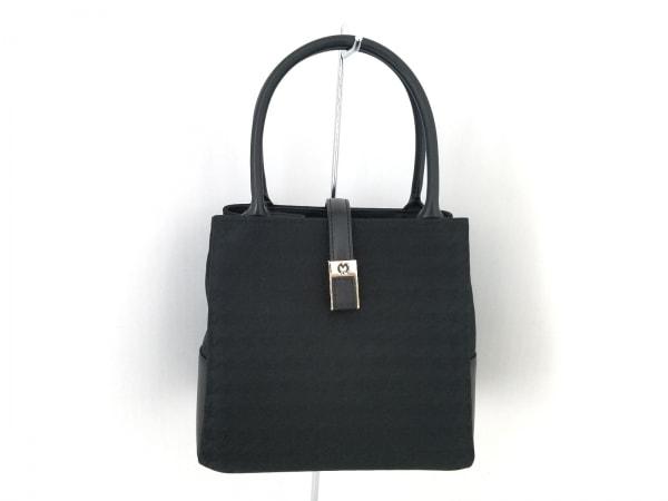 mila schon(ミラショーン) ハンドバッグ美品  黒 ナイロン×レザー