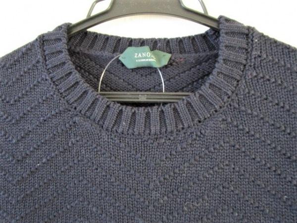 ZANONE(ザノーネ) 長袖セーター サイズ46 XL メンズ ネイビー