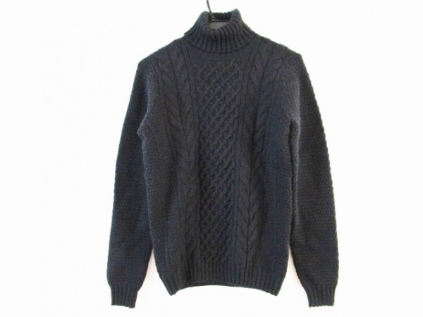 Drumohr(ドルモア) 長袖セーター サイズ46 XL メンズ 黒 タートルネック