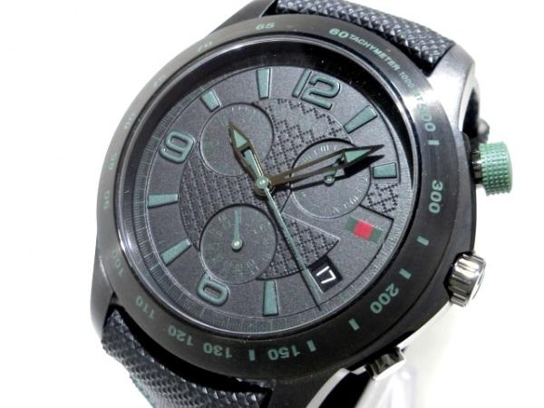グッチ 腕時計 Gタイムレス 126.2/YA126225 メンズ SS×ラバーベルト/クロノグラフ 黒