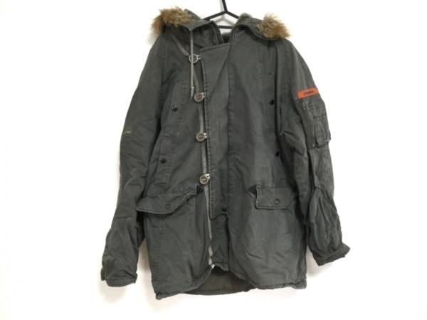 スピーワック コート サイズXL  XL メンズ カーキ×ブラウン フェイクファー/冬物