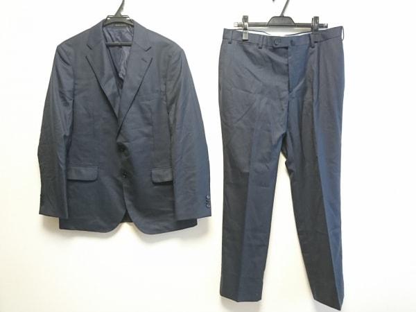 HILTON(ヒルトン) シングルスーツ メンズ ネイビー ネーム刺繍/ストライプ