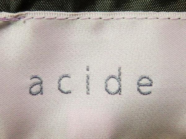 acide(アシッド) ダウンコート サイズ38 M レディース ダークブラウン 冬物