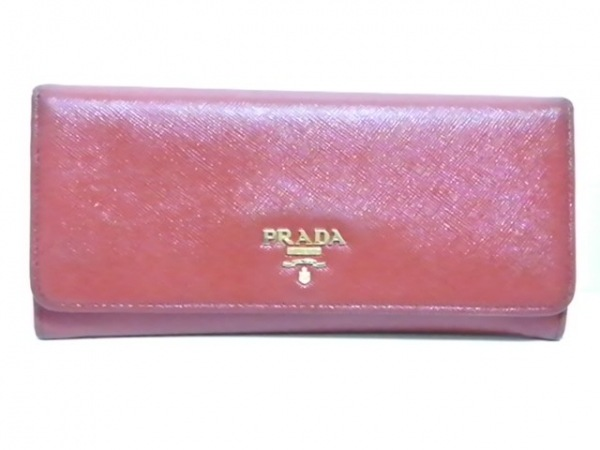 PRADA(プラダ) 長財布 - 1M1132 レッド レザー