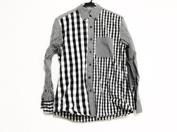 KarlHelmut(カールヘルム) 長袖シャツ サイズ3(M) メンズ美品  黒×白 チェック柄