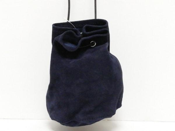 b903cbe75a7c TEMBEA(テンベア) ショルダーバッグ美品 黒 巾着型 スエード×レザーの ...