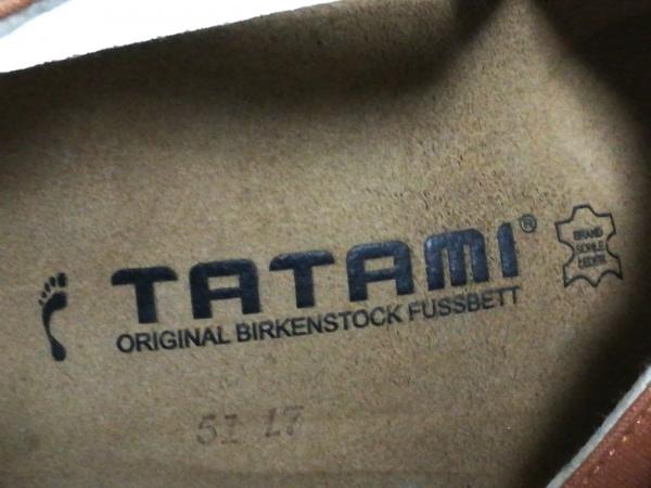 TATAMI(タタミ) サンダル 37 レディース ライトブラウン MHL. コットン