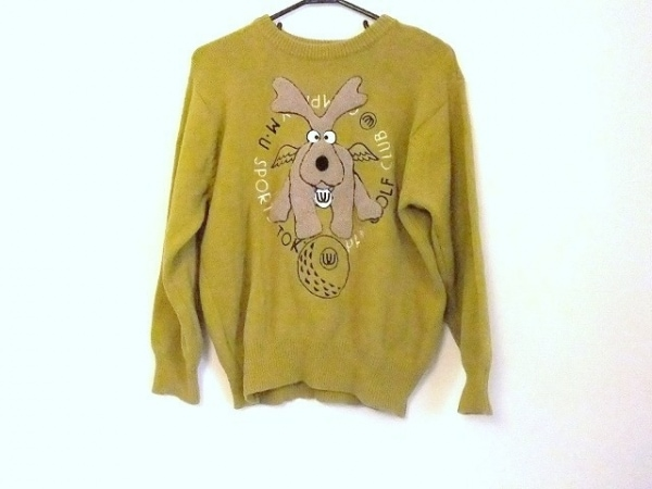 M・U・ SPORTS(ミエコウエサコ) 長袖セーター サイズ42 L レディース 犬/刺繍