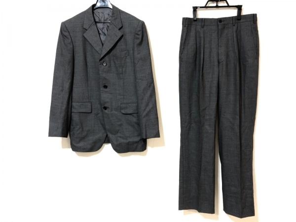 TAKEOKIKUCHI(タケオキクチ) シングルスーツ サイズ2 M メンズ グレー×黒