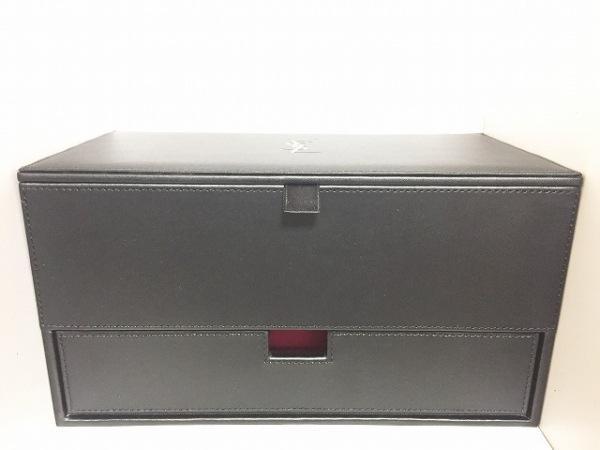 イヴサンローランパフューム 小物入れ 黒 ジュエリーケース/ミラー付 化学繊維