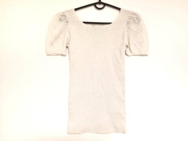 PRADA(プラダ) 半袖セーター サイズ40 M レディース ライトグレー