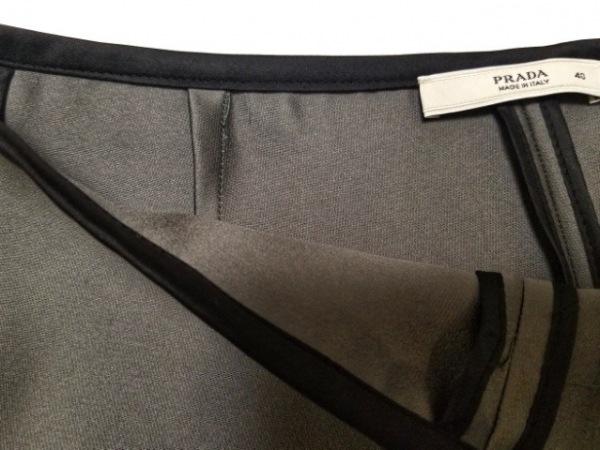 PRADA(プラダ) スカート サイズ40 M レディース美品  グレー×黒