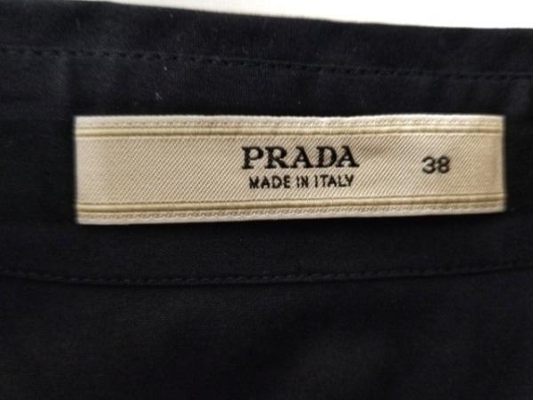 PRADA(プラダ) 長袖シャツブラウス サイズ38 S レディース ダークネイビー×黒 ビーズ