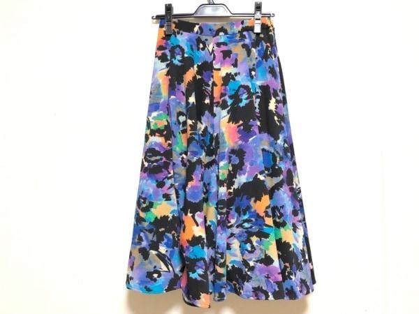 ダイアグラム ロングスカート サイズ36 S レディース ブルー×黒×オレンジ