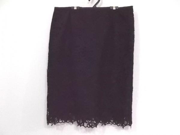 ローズティアラ スカート サイズ46 XL レディース新品同様  黒 花柄/レース