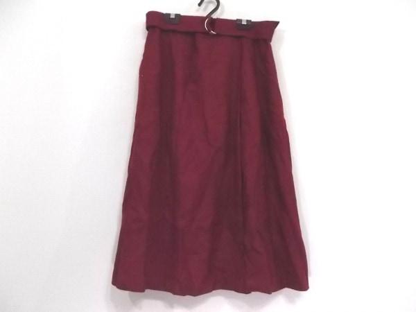 Rose Tiara(ローズティアラ) ロングスカート サイズ46 XL レディース美品  ボルドー