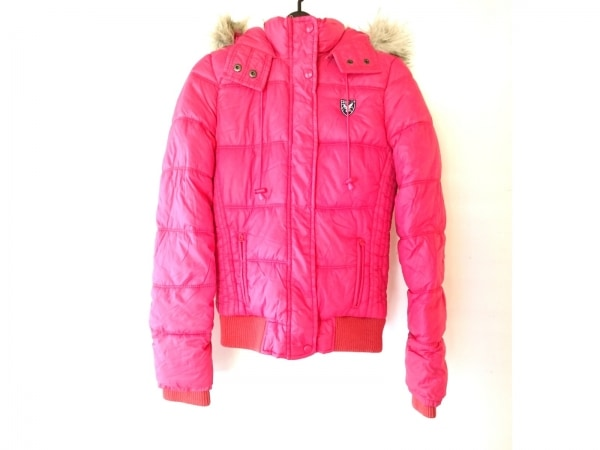 アメリカンイーグル ダウンジャケット サイズM レディース ピンク 冬物