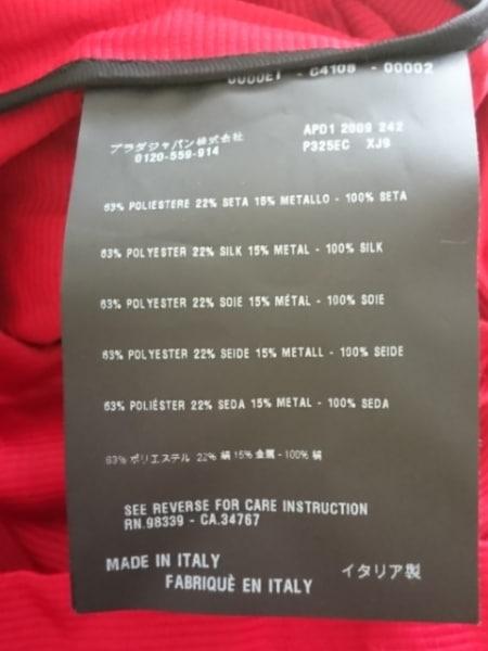 PRADA(プラダ) ワンピース サイズ38 S レディース美品  レッド×黒 シワ加工