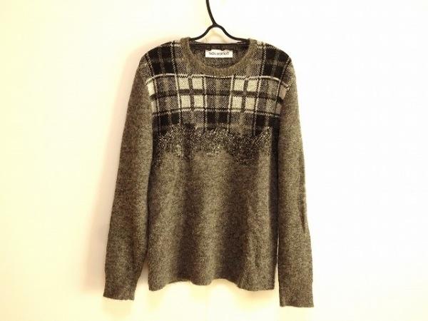 ニールバレット 長袖セーター サイズM  M レディース グレー×黒×アイボリー