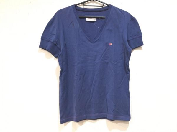 イヴサンローランリヴゴーシュ 半袖Tシャツ サイズM レディース美品  ダークネイビー