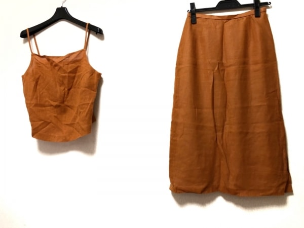 【中古】 ハナエモリ HANAE MORI スカートセットアップ レディース オレンジ