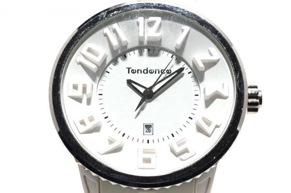 TENDENCE(テンデンス) 腕時計 TG033013 メンズ ラバーベルト 白