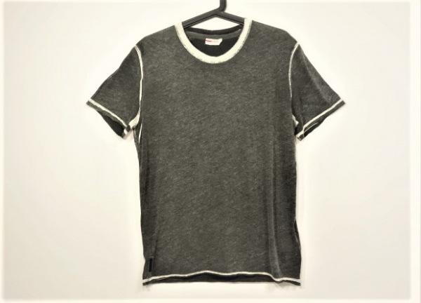プラダスポーツ 半袖Tシャツ サイズL メンズ美品  ダークグレー×アイボリー
