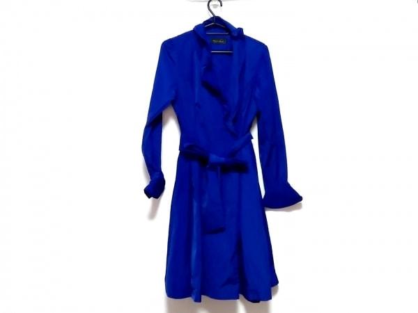 MADAME HIROKO(マダムヒロコ) コート サイズ9 M レディース美品  ブルー 春・秋物