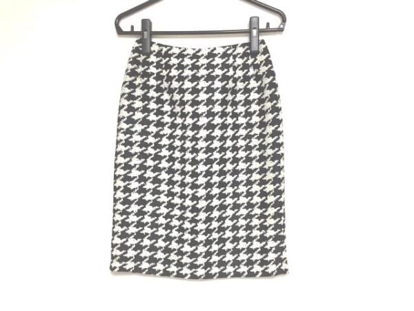 YUKITORII(ユキトリイ) スカート サイズ11 M レディース 黒×白 ラメ