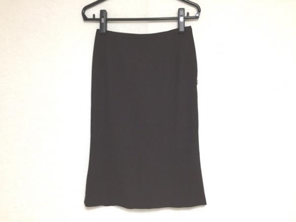 wb(ダブリュービー) スカート サイズ2 M レディース ダークブラウン