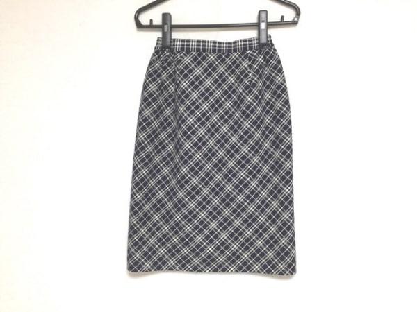 YUKITORII(ユキトリイ) スカート サイズ9 M レディース 黒×アイボリー チェック柄