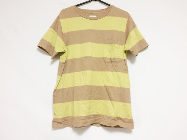ティーエスエス 半袖Tシャツ サイズ2 M メンズ ライトブラウン×イエロー ボーダー