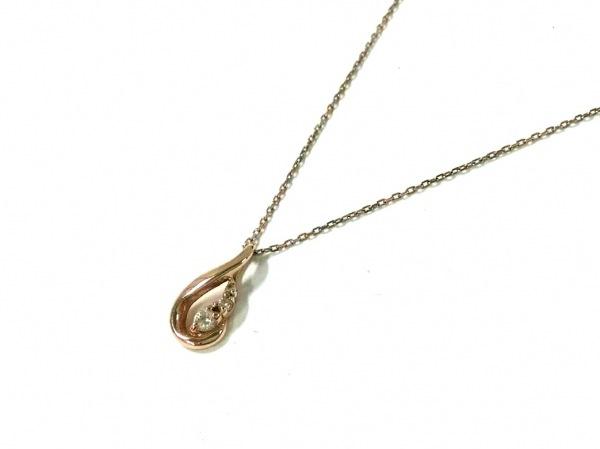 VENDOME(ヴァンドーム青山) ネックレス美品  K18PG×ダイヤモンド 3Pダイヤ