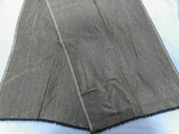 CARA O CRUZ(キャラオクルス) スカーフ美品  黒×ゴールド ラメ